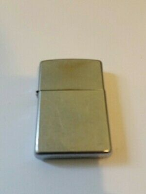 Zippo lighter brushed steel