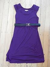 SZABO purple/aubergine semi-formal dress w/ belt sz Small / 10 Yeerongpilly Brisbane South West Preview