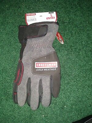 Craftsman Cold Weather Thinsulate Work Gloves - Touch Screen Capable Large L New