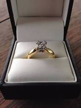 0.94ct Princess Cut Diamond Engagement Ring,18K yellow/white gold Hamilton Brisbane North East Preview
