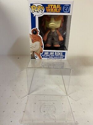 "Star Wars Funko Pop! #27 ""Jar Jar Binks"" Vinyl Bobble Head - Retired Blue Box"