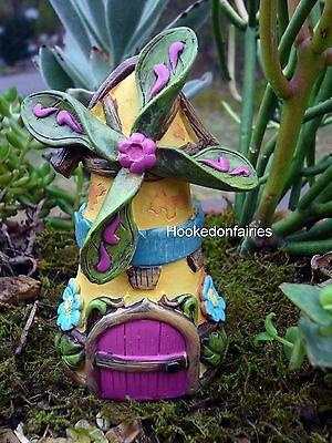 Miniature Fairytale Windmill House Cottage Fairy Garden ...
