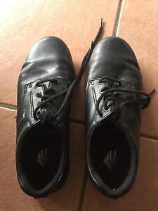 Black leather size 7.5 ladies ascent school shoes Merrimac Gold Coast City Preview