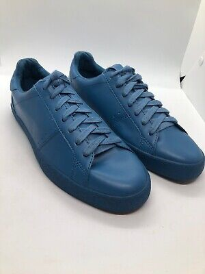 Zara Man Mens Lace Up Low Cut Pure Blue Sneakers Faux Leather Mens Size 7