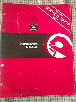 John Deere 1650 Backhoe Operators Manual Om-ga11291