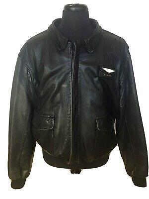 Express Leather Jacket Mens (Vintage Federal Express Leather Jacket FedEx W/ Nameplate Men's)
