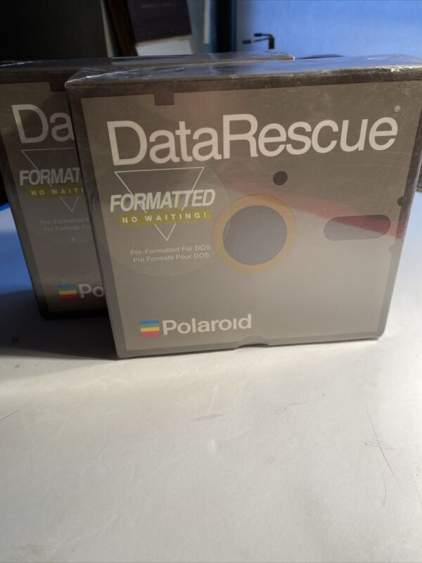 Polaroid Data Rescue Formatted Floppy Disks Pre-Formatted For DOS 2 Pckgs