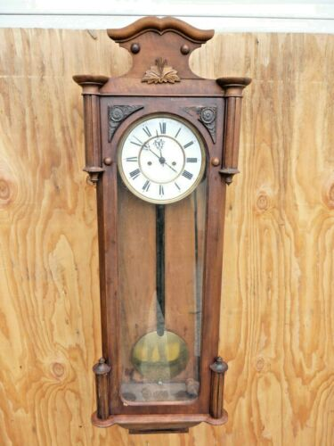 Vienna / German Walnut Wall Clock- Two Weight c. 1900 ,No.12