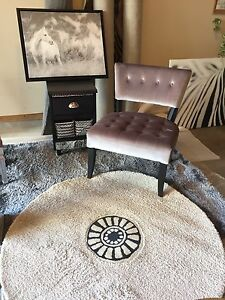 Silver black velvet accent chair