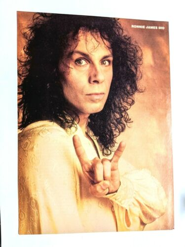 RONNIE JAMES DIO / MAGAZINE FULL PAGE PINUP POSTER CLIPPING (5)
