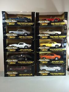 American Muscle 10 Fastest by Ertl (Ten Cars) Diecast 1:18