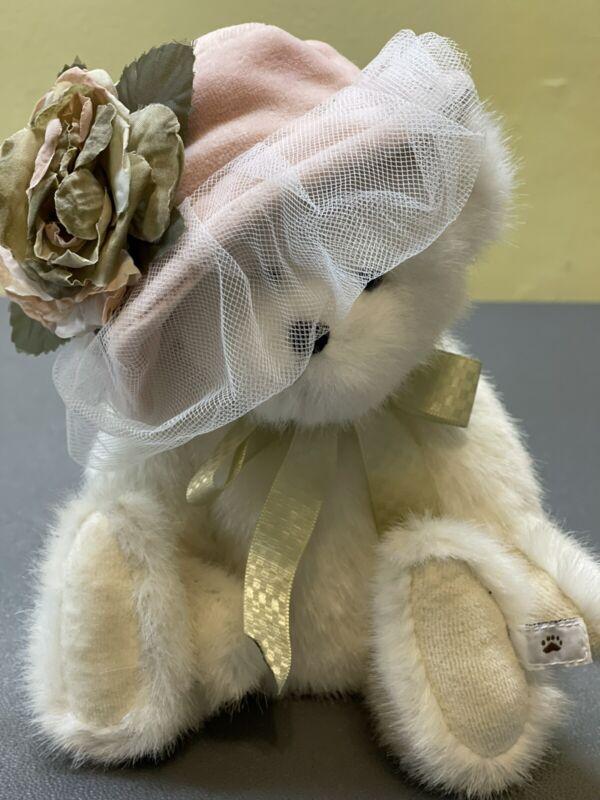 """Retired Boyds Bears """"Chantelle Chapeau"""" 10"""" Plush Bear 2002 Best Dressed Hat"""