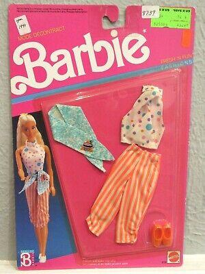 NEW BARBIE 1989 FRESH 'N FUN FASHIONS - CLASSIC 80'S CAPRI PANTS & CROP TOP- MOC