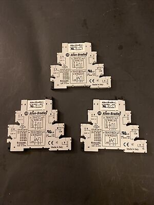 Lot Of 3 Allen-bradley 700-hlt1z Ser A 700tbr24 Relay Socket Relay Module