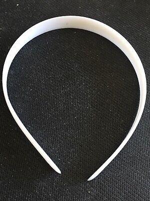 Weisse Haarreifen zum selbst-gestalten 50er Set
