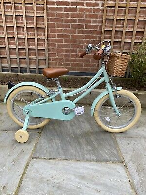 Bobbin Gingersnap Kids Bike 16 Inch Green - Brilliant Condition