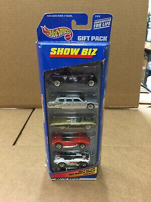 1998 Hot Wheels 5 Car Gift Pack SHOW BIZ Limo Ferrari Shelby Cobra