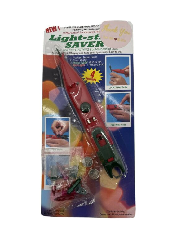 New Light-string Saver Tester Plus Christmas Light Fuse Checker Bulb Remover