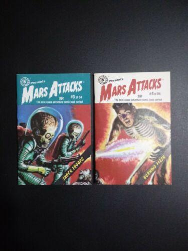 1988 Topps Mars Attacks Pocket Comics #3 And 4