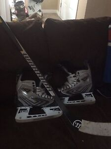 ccm vector sz 10 mens skates and warrior composite stick