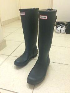 BARELY WORN HUNTER WELLINGTON GUMBOOTS BOOTS EUR 42 UK 8
