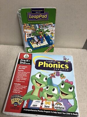 LEAP PAD PHONICS PROGRAM..PRE K- 2ND GRADE..10 LESSON BOX SET..W/ CARTRIDGE 2nd Grade Box Set