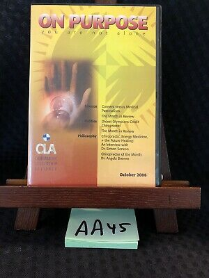 On Purposeyou Are Not Alone Chiropractic Cd Set Oct 2008 Cla Gentempo Kent