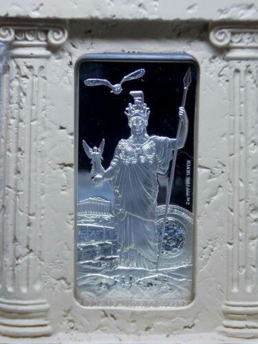 "2015 Niue $5 ""ATHENA"" Gods of Ancient Greece Proof 2oz Proof Silver Box & COA"