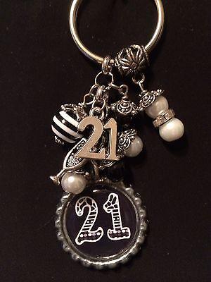 21st Birthday Bottle Cap Keychain  21 Year Old  Birthday Key chain 21st Birthday Key