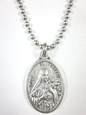 St Therese of Lisieux Medal Pendant Necklace 24