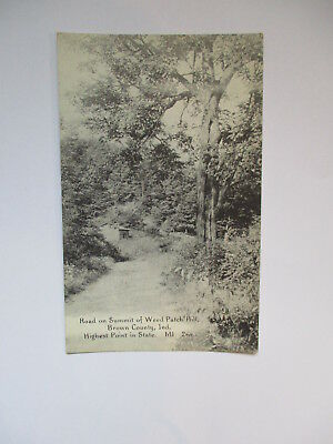 WEED PATCH HILL BROWN COUNTRY, INDIANA IN POSTCARD VINTAGE UNUSED