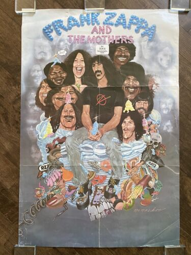 Frank Zappa And The Mothers 10 Years Of The Mothers 1974 Tour Poster - RARE  - $175.00