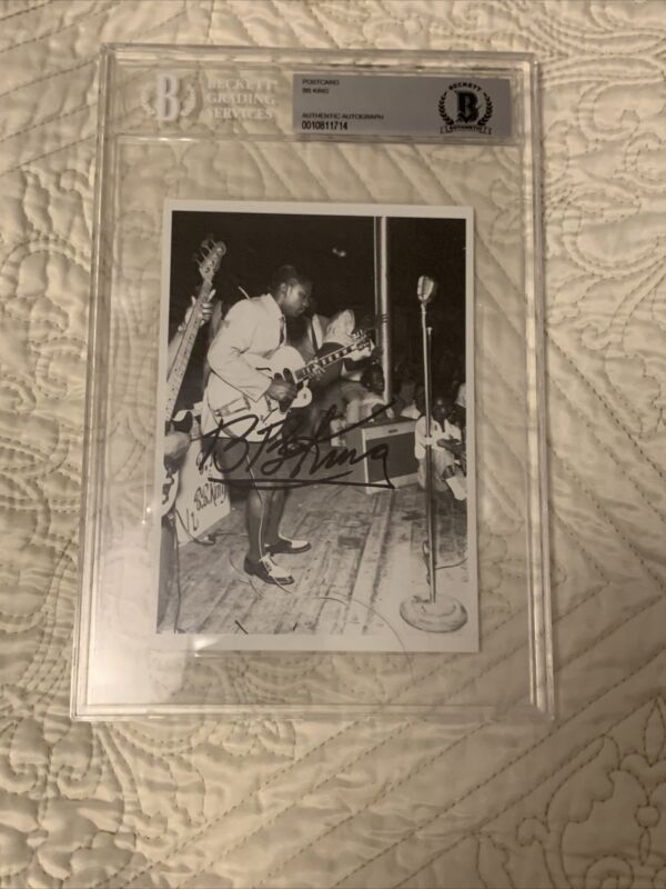 BB KING (deceased) Signed Post Card  Blues Legend BGS Authenticated.