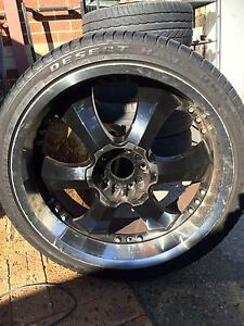 23 Inch Black And Chrome Rims Doubleview Stirling Area Preview