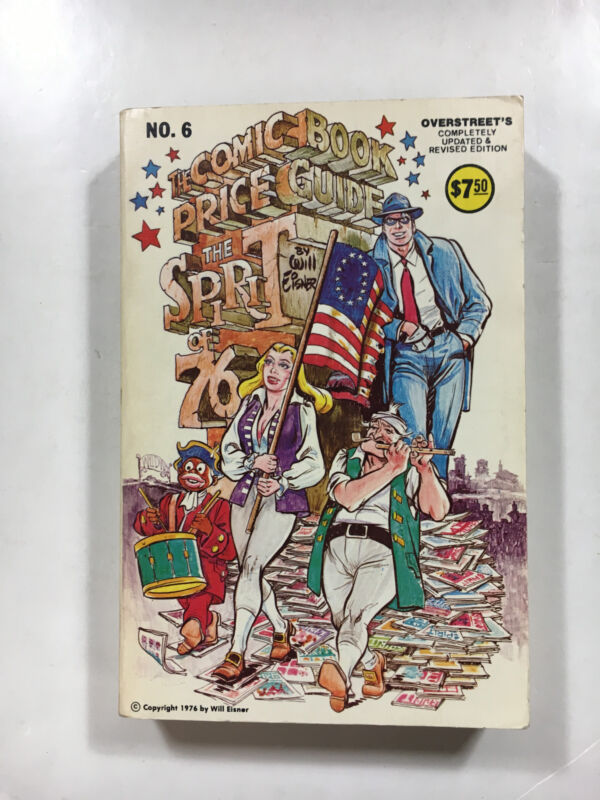Overstreet Comic Book Price Guide #6  1976 Edition comic pricing catalog VF