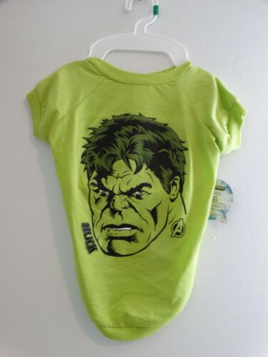 NWT Marvel Comics Green Incredible Hulk Tee Dog Tee L