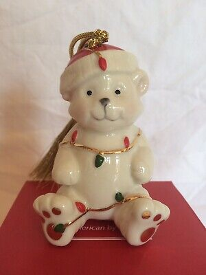 NEW Lenox Very Merry Christmas Ornament BEAR ONLY NEW IN BOX Holiday (Jolly Holiday Box)