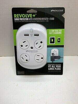 360 Electrical 36037 Revolve Plus Surge Protector with Rotating Outlets