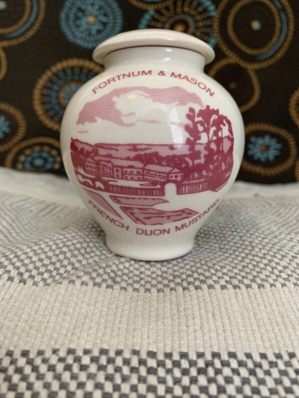 Vintage Aviemore  Fortnum and Mason Pottery Mustard Pot Jar From Scotland