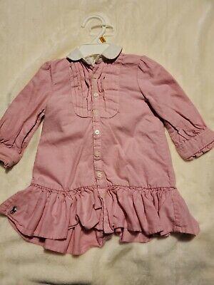 ralph lauren baby girl 9 months Pink long Sleeve w/pamper cover