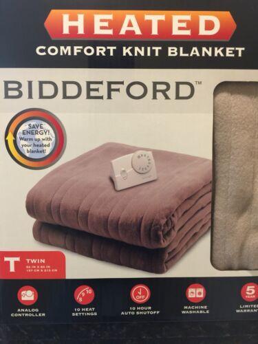 Biddeford 1001-903292-706 Comfort Knit Electric Heated Blanket Fawn Full