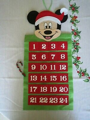 Disney Mickey Mouse Felt Advent Calendar Christmas Countdown