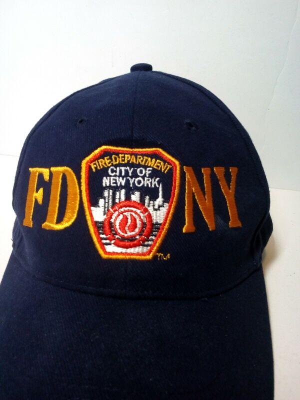 FDNY Fire Department of New York City Baseball Cap Hat New Navy Adj. Strap! FDNY