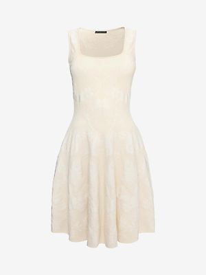 Alexander McQueen White and Nude Sleeveless Corset Neck Dress NWT (M) $1908