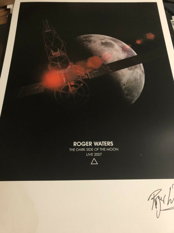 Roger Waters 2007 Concert Poster Numbered Lithograph Stains And Corner Wear