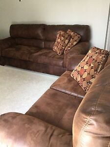 Microsuede Sofa and Love Seat