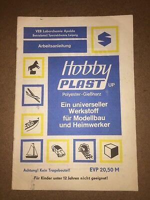 DDR Heft Anleitung Hobby Plast Polyester Gießharz Modellbau VEB Apolda 1986