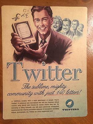 Tin Sign Vintage Twitter