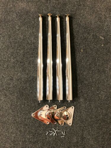 Wurlitzer 200 series stool / bench Legs and Plates - set of four