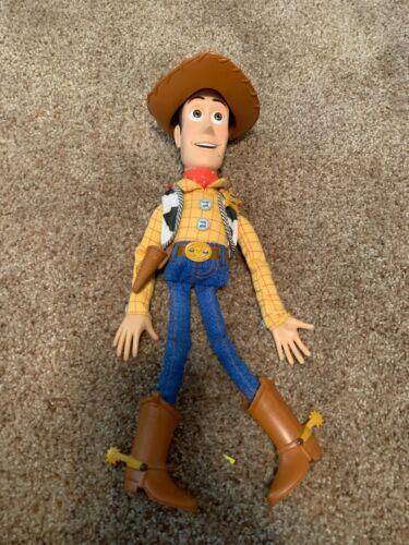 Disney Pixar TOY STORY SHERIFF WOODY Pull String Talking Plush (B)